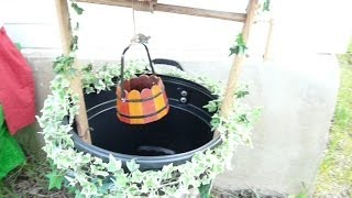 How To Make A Wishing Well Out Of A Garbage Can