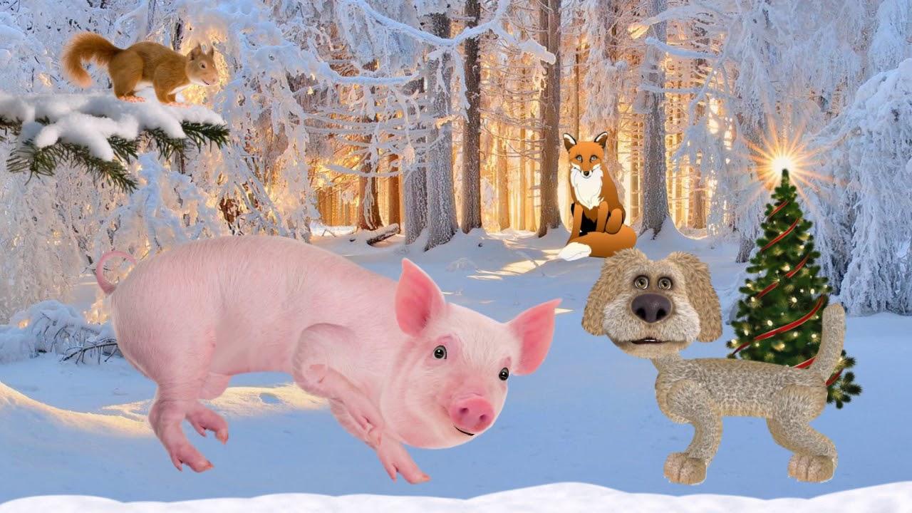Картинки год собаки и свиньи, доброе утро