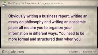 09: The Linguist by Steve Kaufmann - A Language Adventure - Sciences Po