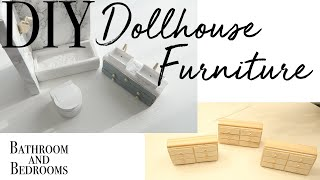 DIY Dollhouse Furniture part 2 ~ Relaxing DIY ~ Dollhouse Makeover Series (Video 5 of 6)