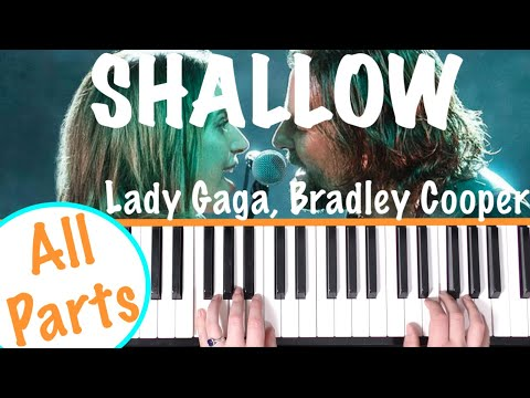 How to play 'SHALLOW' - A Star Is Born (Lady Gaga) | Piano Chords Tutorial