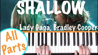 How to play 'SHALLOW' - A Star Is Born (Lady Gaga) | Piano Chords Tutorial Video