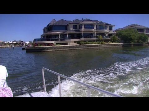 Mandurah Western Australia, canal boat trip.