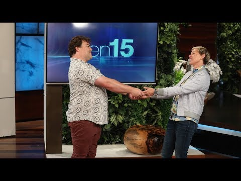 Jack Black Makes an Unexpected Visit to Ellen!