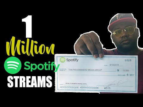 1 Million Streams On Spotify - One Million Streams on Spotify- ROYALTY RATES Mp3