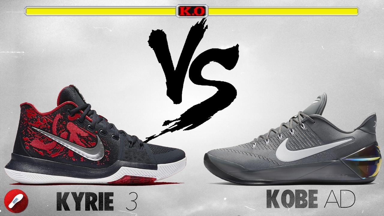 Nike Kyrie 3 vs Kobe AD! - YouTube