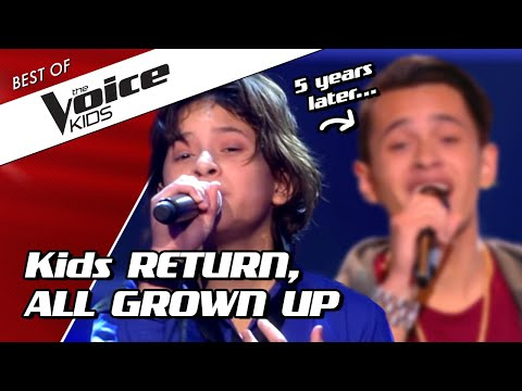 TOP 10  SHOCKING RETURNS of kids as ADULTS in The Voice