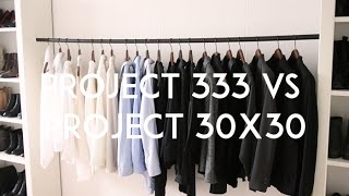 The Project 333 or Project 30x30 Challenge? | Mademoiselle