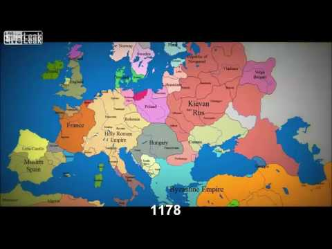 Watch as 1000 years of European borders change (time lapse)   YouTube