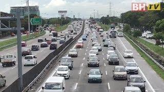 Tinjauan lalulintas di Lebuhraya Utara Selatan (PLUS) di Seberang Jaya