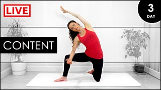 Early MORNING Yoga For BEGINNERS / 31 Day LIVE Yoga At Home Challenge (Day 3)