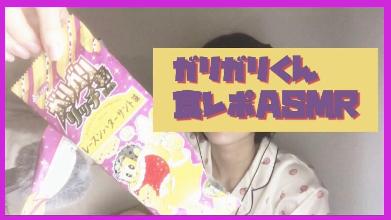 【食レポASMR】ガリガリ君リッチレーズンバターサンドを食レポ【睡眠導入】