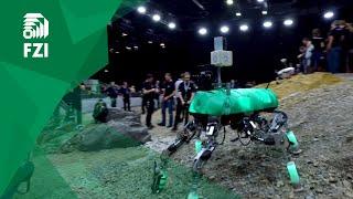 Walking Robot LAURON V - Planetary Sample Return Mission  at DLR SpaceBot Camp 2015