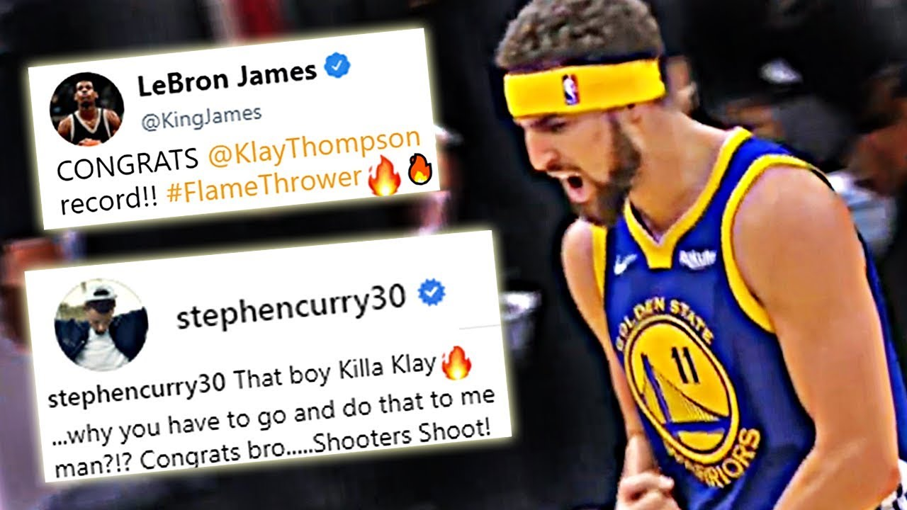 e900156d437075 LeBron James, Steph Curry, & Other NBA Players React To Klay ...