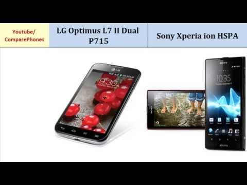 LG Optimus L7 II Dual P715 comp. Sony Xperia ion HSPA, compared with
