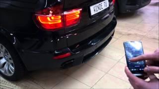 Активный звук выхлопной системы дизельного BMW X5 3.0d E70 от WINDE.RU