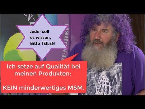 MINDERWERTIGES MSM  - Nicht bei Robert Franz!
