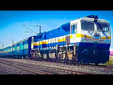 superfast skipping & track crackers 12149 PUNE DANAPUR SUPERFAST/WDP4D PUNE 40473-INDIAN RAILWAYS
