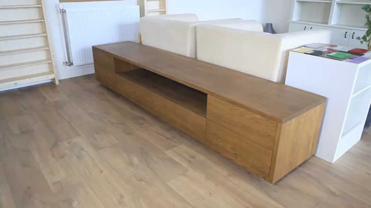 Audio-TV-meubel Model Austin castor interieur - YouTube