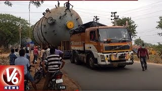 80 Wheeler Truck Attracts People In Mancherial And Nirmal   V6 News