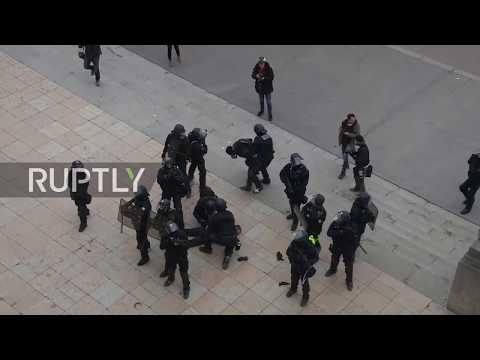 France: Protesters arrested at Eiffel Tower as Yellow Vests continue action