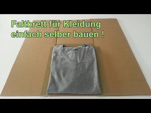 Faltbrett für T-Shirts & Hemden selber machen / Wäsche Falthilfe bauen – DIY Wäschefalter Anleitung