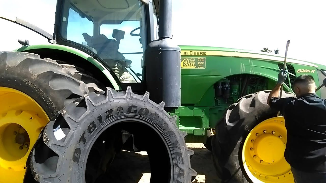 how to dismount big tractor tires youtube