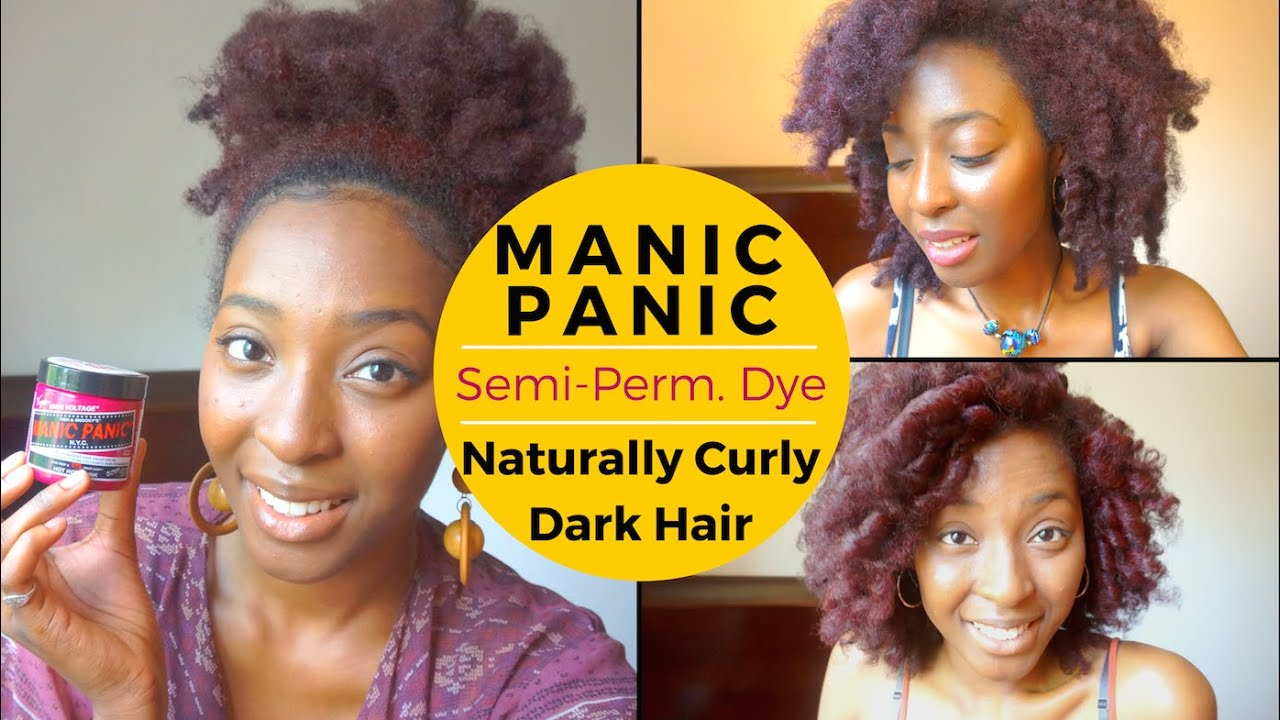 Manic Panic Dye Tutorial Review Natural Curly Dark