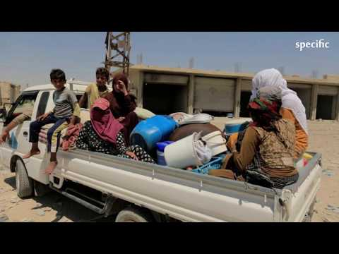 Defiant women and dying children: Isis' desert legacy | UK news today thumbnail