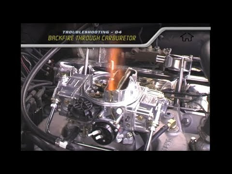 Troubleshooting - backfire through carburetor - YouTube