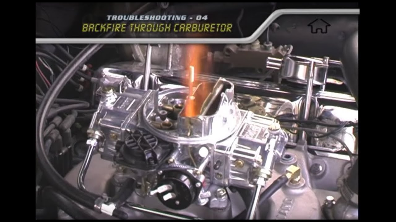 hight resolution of troubleshooting backfire through carburetor