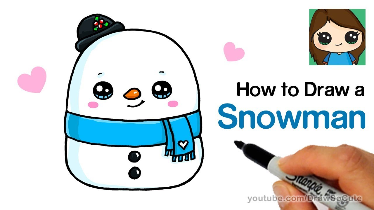 180 How To Draw A Snowman Easy Squishmallows Youtube Cute Drawings Draw A Snowman Drawings