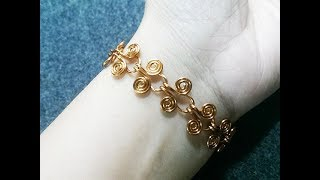 Egyptian Coil Bracelet - How to make wire jewelry 216
