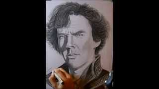 sherlock holmes portrait-how i draw (time lapse)