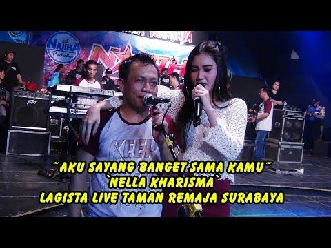 Aku Sayang Banget Sama Kamu - Nella Kharisma Cover -  Lagista Live Taman Remaja Surabaya