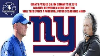 New York Giants Report- Jim Shwartz would not take Giants job because Dave Gettleman wanted control