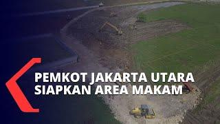 Penampakan Area Pemakaman Jenazah Covid-19 di Jakarta Utara