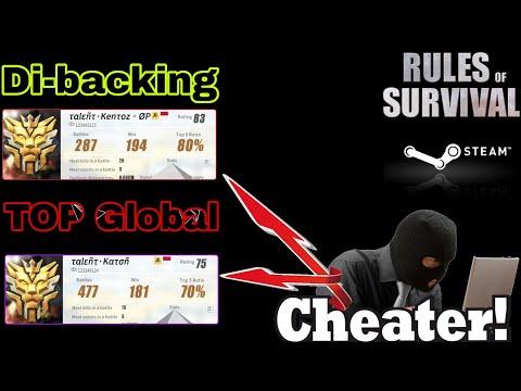 Mengejutkan! Salah satu Top Global yang Dibacking Cheater! Guys Rules of Survival VERSI STEAM