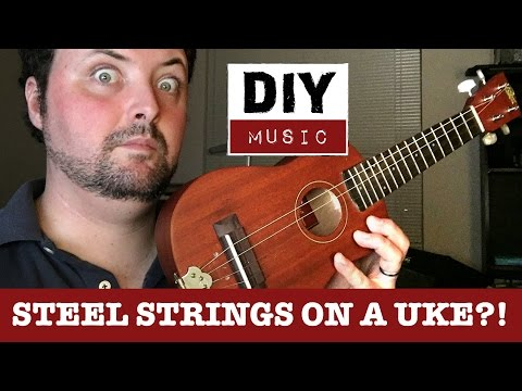 DIY steel string ukulele uke - Rogue ru-12 mod tuners replacement tailpiece upgrade cbgitty