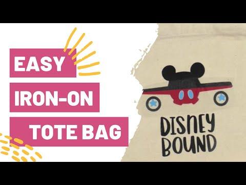 EASY IRON-ON TOTE BAG - DISNEY TOTE BAG!