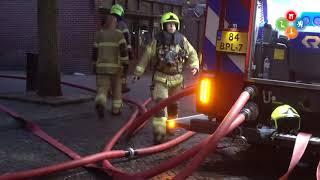 Zeer grote brand in snackbar Bello aan Plein Bergen
