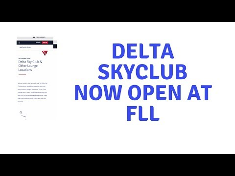 Delta SkyClub At Fort Lauderdale FLL Now Open