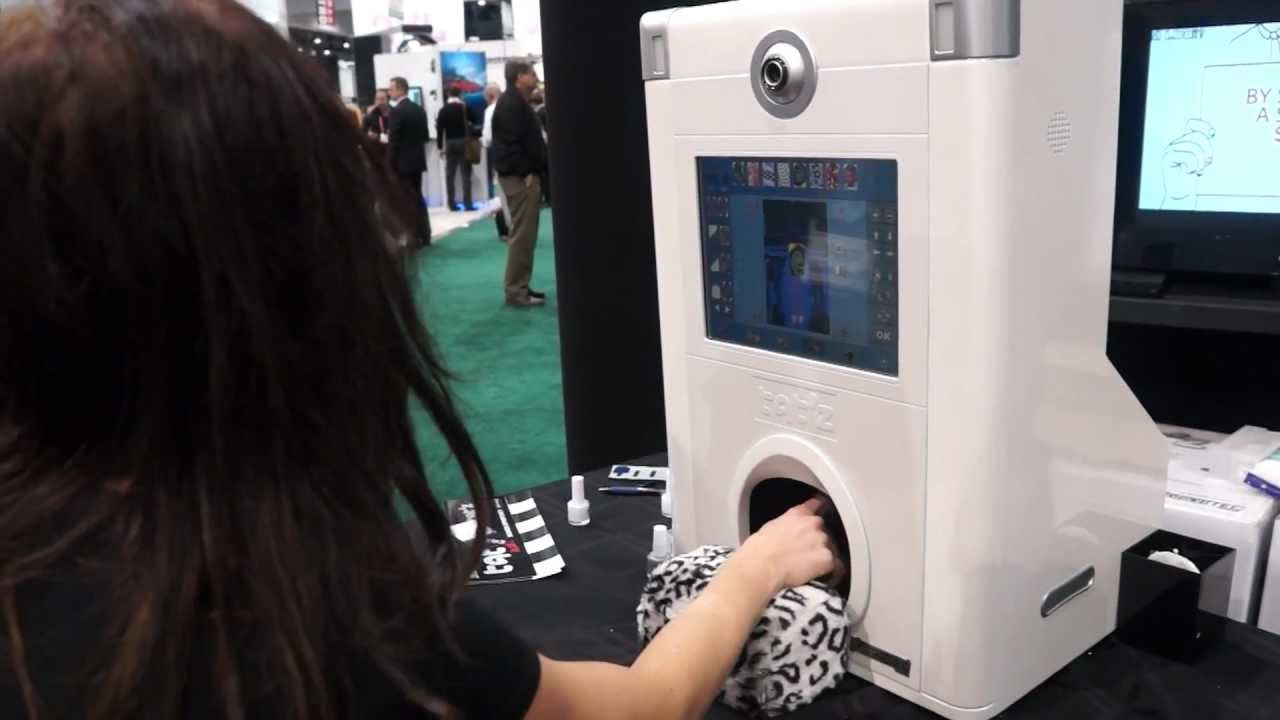 CES 2013 - Tatz DIY Nail Kiosk Machine - YouTube