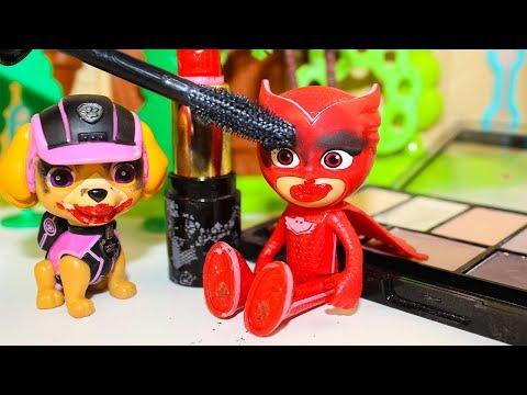 Мультики про Щенячий патруль Игрушки Герои в масках Макияж от Скай Мультфильмы для детей