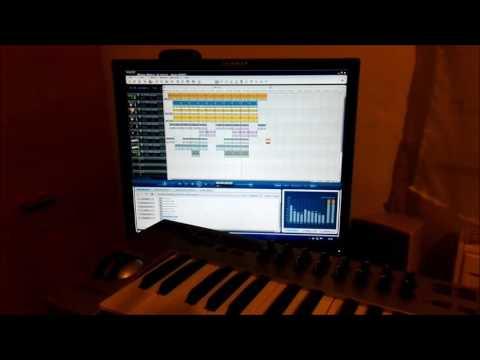 F L.Studio 12.4.2. Free version,MAGIX Music Maker 12. E-MU Xboard61  MIDI c, am f g