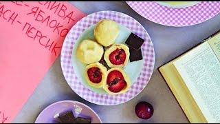 Кнедлики со сливами и шоколадом