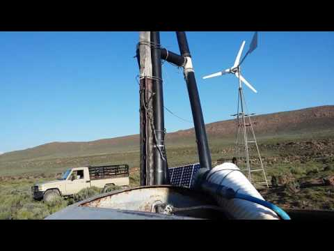 Windturbine and solar pumping water