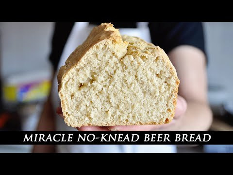 Miracle NO-KNEAD Homemade Beer Bread Recipe