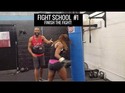 Finish The Fight! | FIGHT SCHOOL Boxing technique & tutorial #1