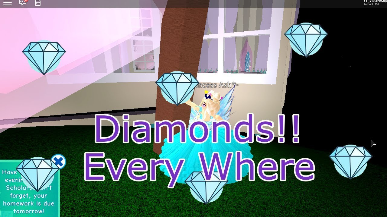 How To Get Large Diamond Easily In Royale High Roblox Youtube